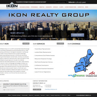 IKON Realty Group Web site screen shot