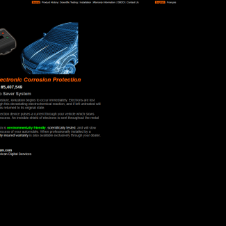 The Auto Saver System web site screenshot